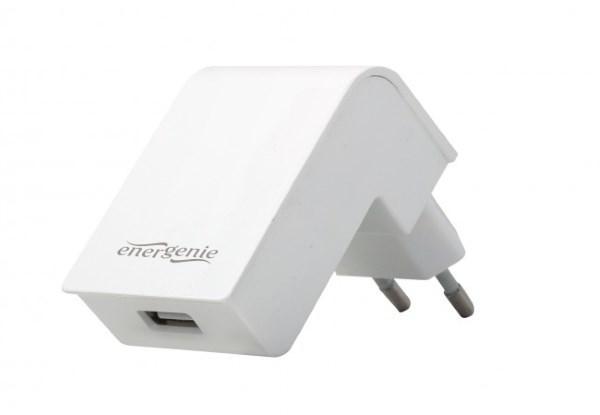 Зарядний пристрій EnerGenie EG-UC2A-02-W (USB, 2.1 A) білий (код 104660)