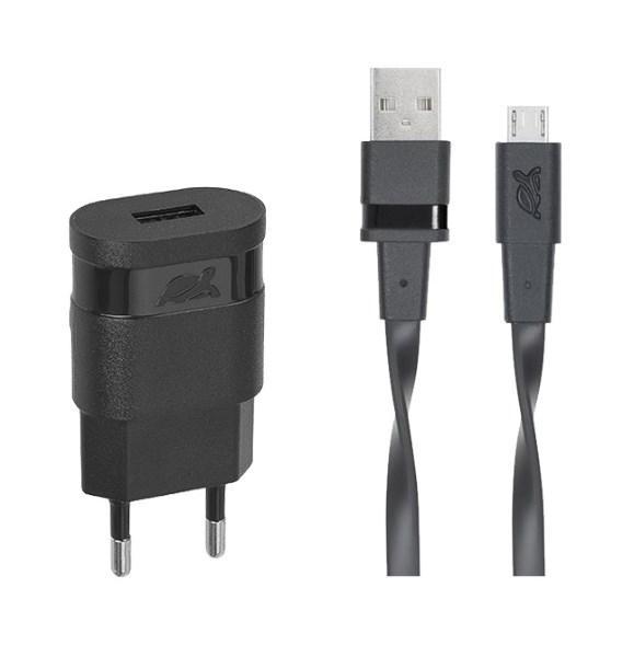 Зарядний пристрій RivaCase VA4111 BD1 (Black) USB 1 порт, кабель micro USB (код 103547)