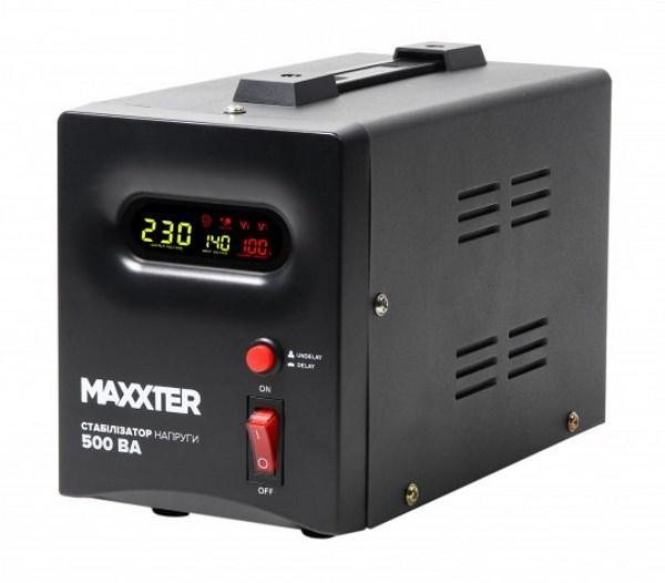 Стабілізатор напруги Maxxter MX-AVR-S500-01 500 ВА (MX-AVR-S500-01) (код 104740)