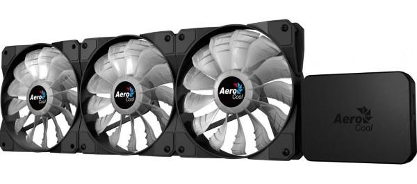 Охолоджувач Комплект вентиляторів AeroCool P7-F12 Pro  RGB+ P7-H1,3х120мм, Retail (код 97464)