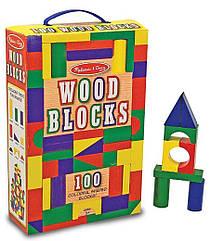 100 дерев'яних кубиків Melissa & Doug (MD10481) (код 95502)