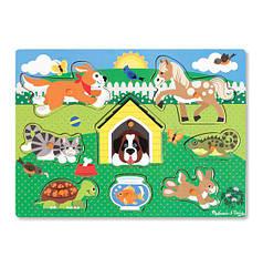 Рамка-вкладиш Melissa & Doug Домашні тварини (MD19053) (код 95517)