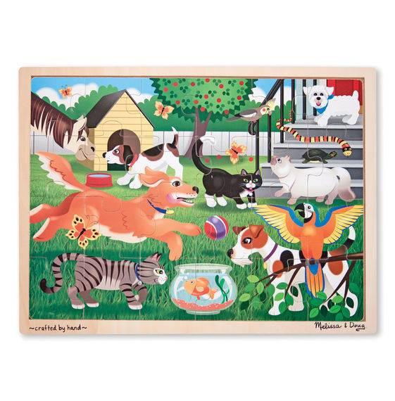 Дерев'яна яний пазл Melіssa & Doug Домашні тварини (MD19059) (код 95519)