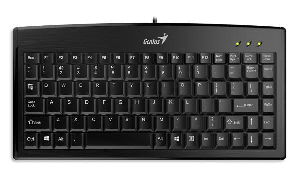 Клавіатура Key Genius LuxeMate 100 USB, Black, UKR (31300725104) (код 90710)