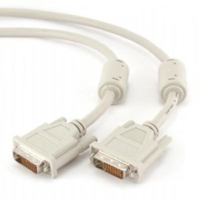 Кабель сигнальний DVI-DVI Cablexpert CC-DVI2-6C відео 24/24 (dual link), 1.8м  (код 59592)