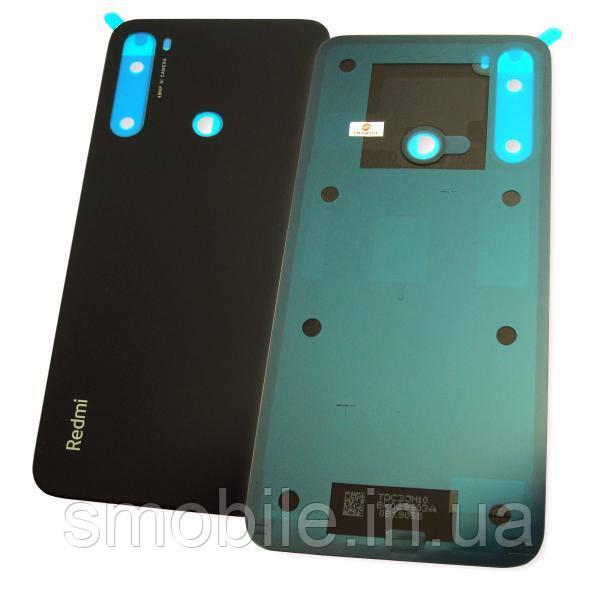 Стекло задней крышки Xiaomi Redmi Note 8 черное (оригинал Китай)