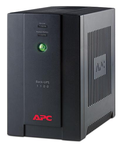 Блок безперебійного живлення APC Back-UPS 1100VA (BX1100CI-RS) (4роз., 1100ВА/660Вт, 8хв 50%, 273Дж, 2хRJ-45,