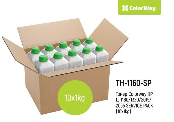 Тонер HP LJ 1160/1320/2015/2055 SERVICE PACK  (10x1кг)  *Colorway (код 95369)
