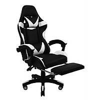 Кресло геймерское раскладное B 810 с системой качания с подставкой для ног геймерский стул компьютерный белый
