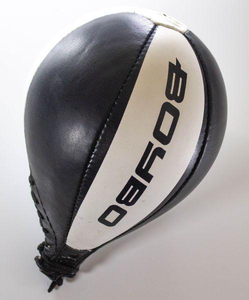 Боксерская груша BoyBo (кожа) круглая, черн.-бел. GR-312 Боксерская груша BoyBo (кожа) круглая, черн.-бел.