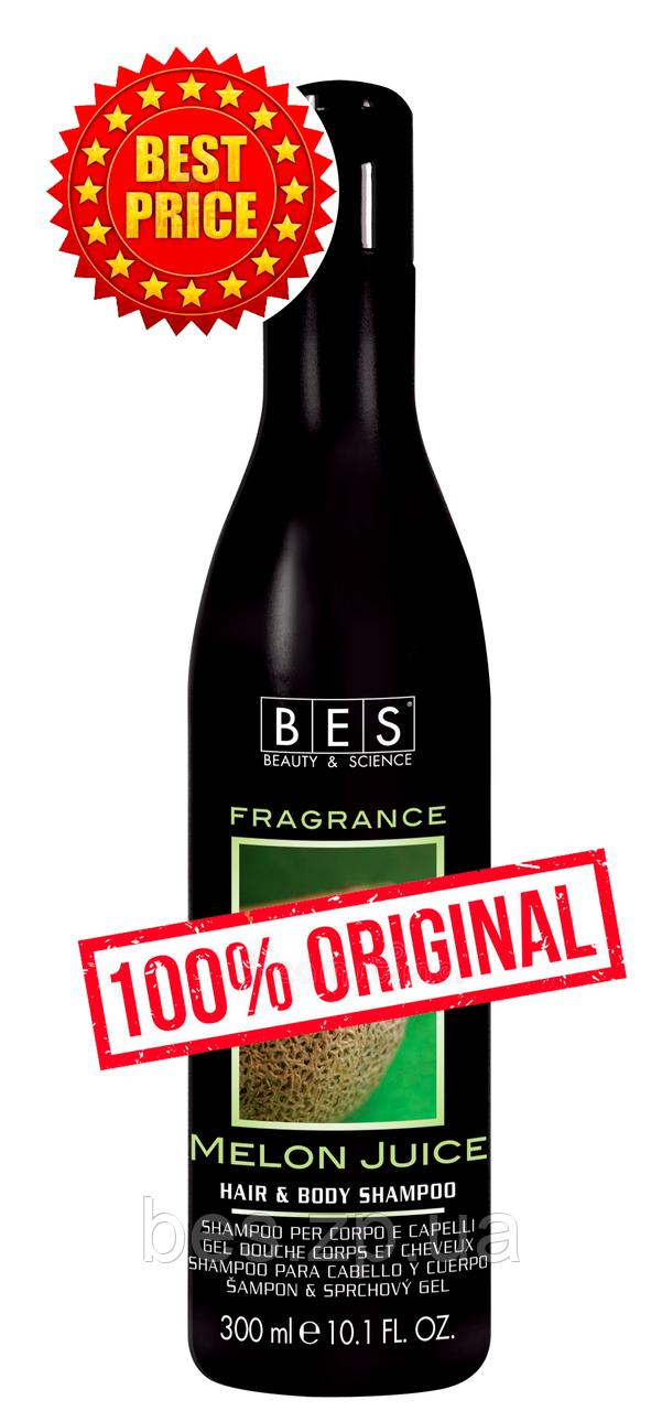 Шампунь – гель Сочная дыня для душа для всех типов волос Fragrance 300 мл