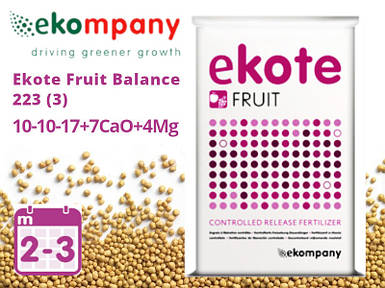Удобрение Ekote Fruit Balance 223 10-10-17+7CaO+4MgO (3 месяца) - 25 кг