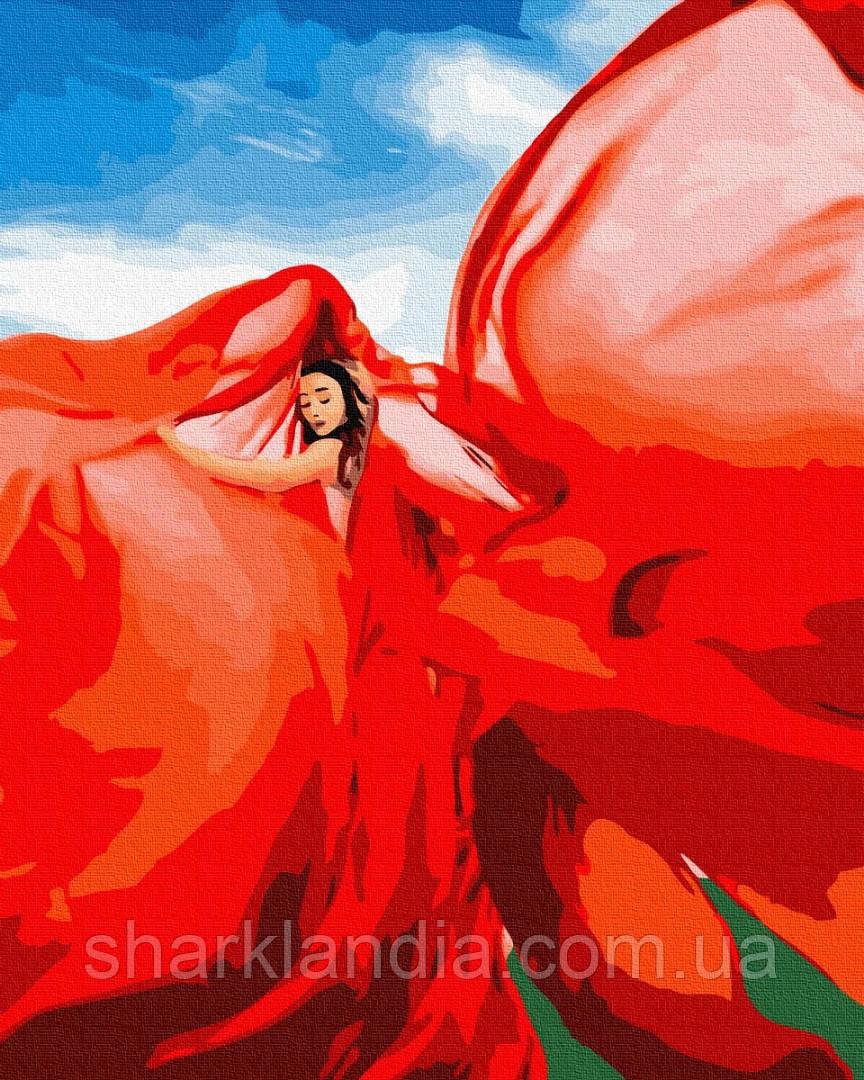 Женщина в красном 40*50см Brushme Картина по номерам