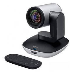 Веб-камера 2.0 Мп з мікрофоном Logitech PTZ Pro 2 Black Grey