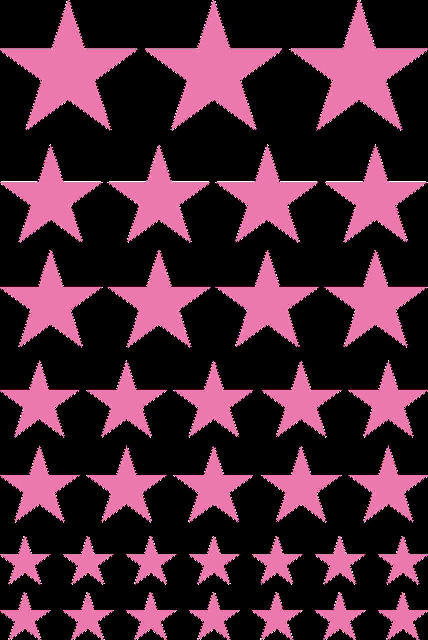 Наклейки Звёзды розовые