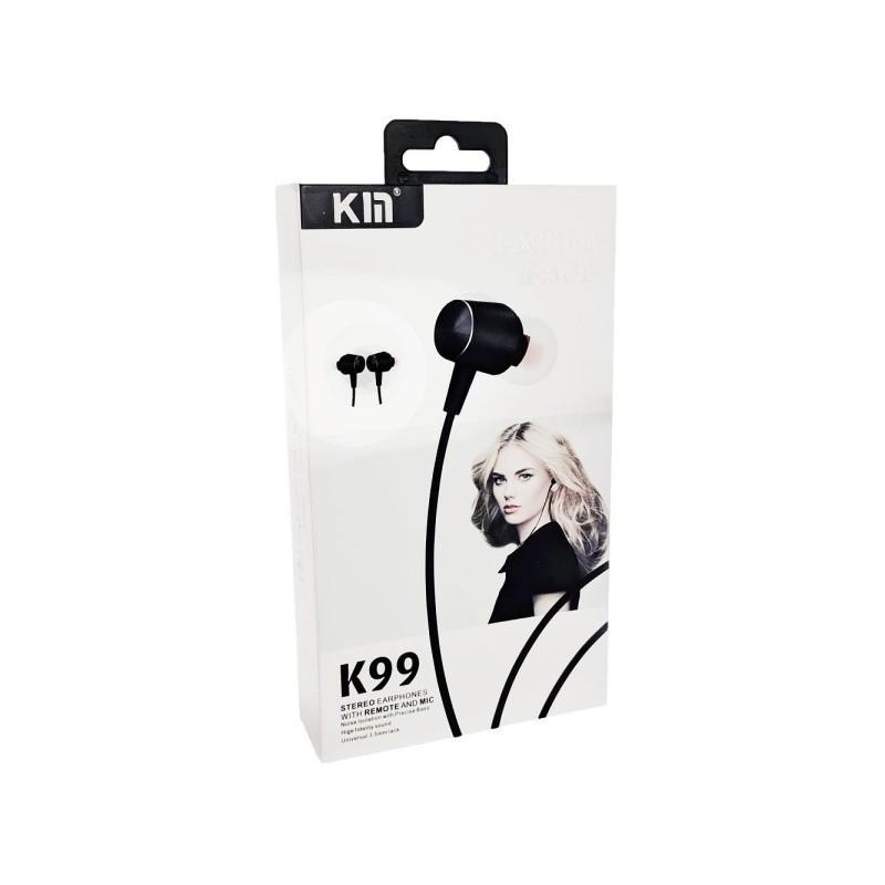 Наушники KIN K99 Black - Проводные, Вакуумные, Цветная коробка