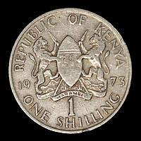 Монета Кении 1 шиллинг 1973 г. Президент Мзее Кеньятта, фото 1