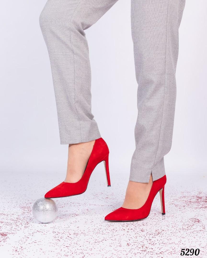 Туфли лодочки на высокой шпильке красные
