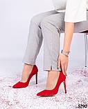 Туфли лодочки на высокой шпильке красные, фото 3