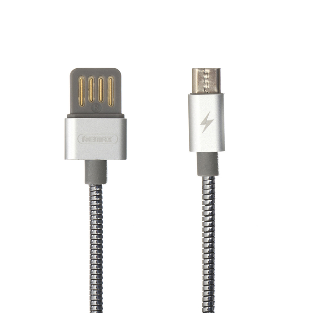 USB Remax RC-080m Silver Serpent Micro (Стальной)