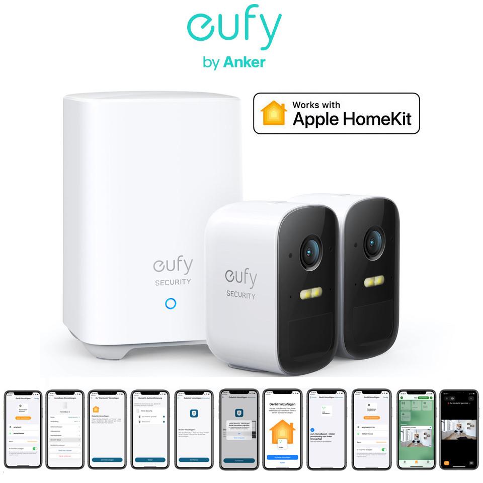 Вулична IP-Камера Apple HomeKit Комплект 2шт EufyCam 2C Smart WiFi IP Camera 1080P