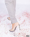 Шикарные туфли - лодочки цвета бежевой пудры, фото 4