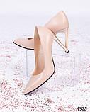 Шикарные туфли - лодочки цвета бежевой пудры, фото 5
