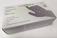 Перчатки нитриловые черные, размер М, упаковка 100шт/50пар