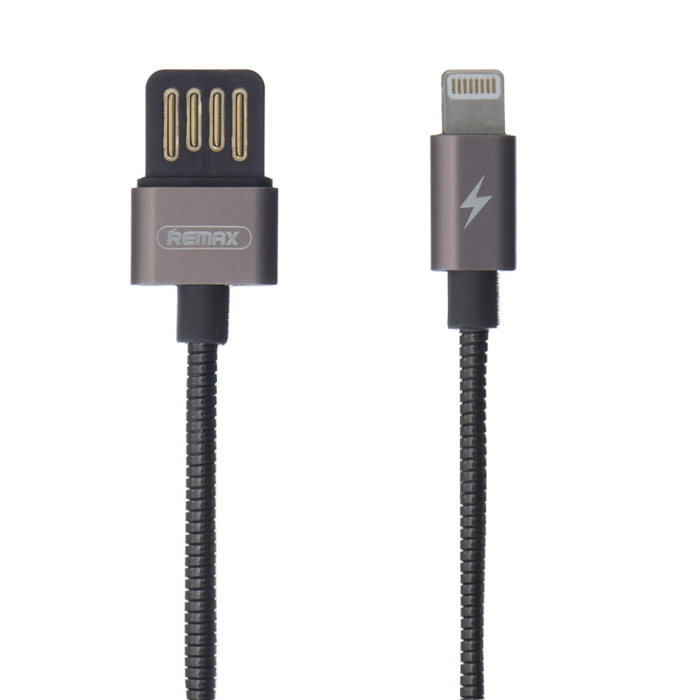 USB Remax RC-080i Silver Serpent Lightning (Чёрный)
