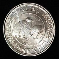 Монета Тонга 10 сенити 2015 г. Птицы Mалау, фото 1