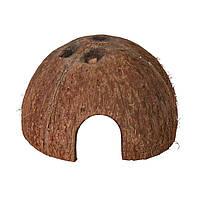 Декорация для террариума Trixie Домики кокосовые d=8/10/12 см, 3 шт. (натуральные материалы)