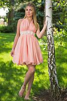 """Короткое летнее платье-сарафан в горошек """"Алиса"""" с завязками через шею (8 цветов)"""