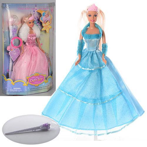 Кукла DEFA 8003  29см, волш.палочка-свет, на бат-ке(табл), 2 вида, в кор-ке, 21,5-34-8см