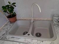 Мойка кухонная гранитная на две чаши bulbul Double Lite, фото 2