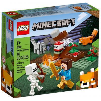 Конструктор LEGO Minecraft Приключения в тайге 74 детали (21162)