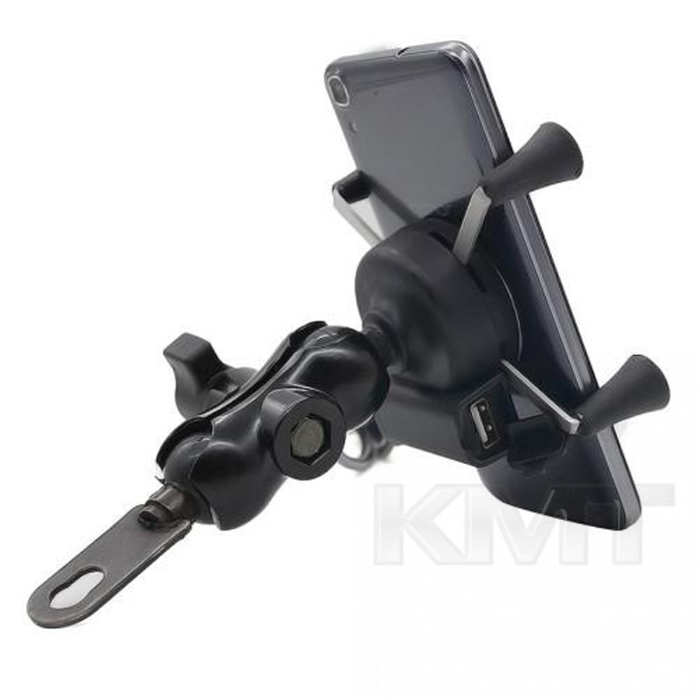 Bike holder with Wireless Charger for Phone Black
