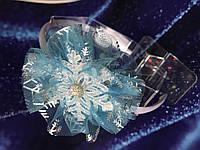 Обруч Снежинка белая с фатином на новогодний утренник, фото 1