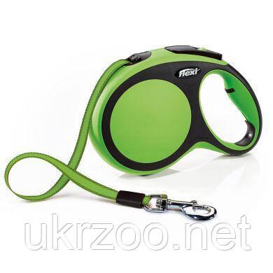 Поводок-рулетка для собак Flexi с лентой «New Comfort» L 8 м / 50 кг (зелёная) 21374
