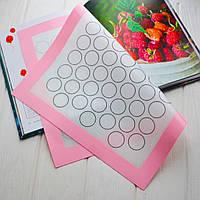 Силіконовий килимок для макаронс (з розміткою) 30х40 див.