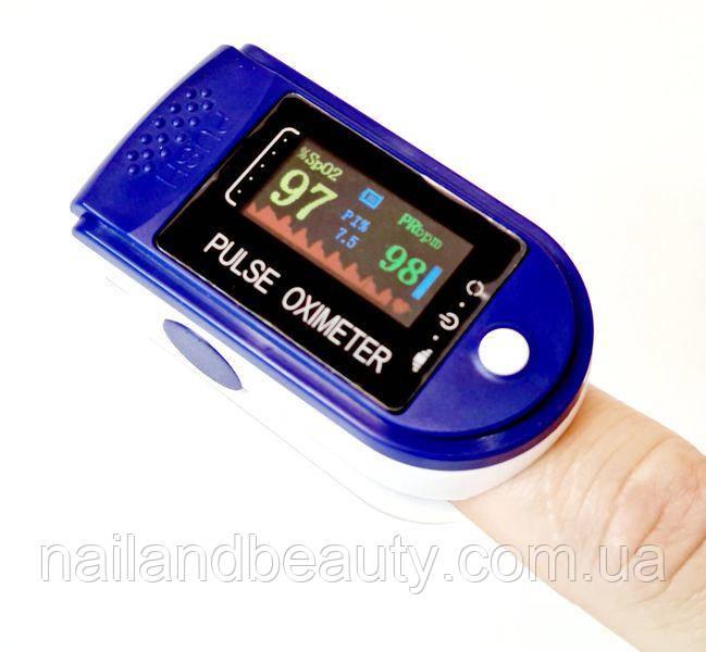 Пульсоксиметр на палец для измерения процента кислорода в крови и частоты пульса