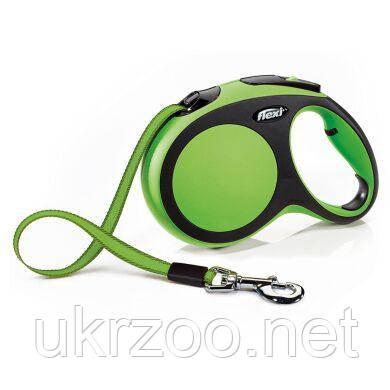 Поводок-рулетка для собак Flexi с лентой «New Comfort» L 5 м / 60 кг (зелёная) 21364