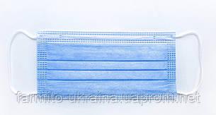 Маски медицинские с мельтблауном, трехслойные, заводские, оптом и в розницу, фото 2