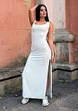 Женское платье-майка с разрезами по бокам, фото 3