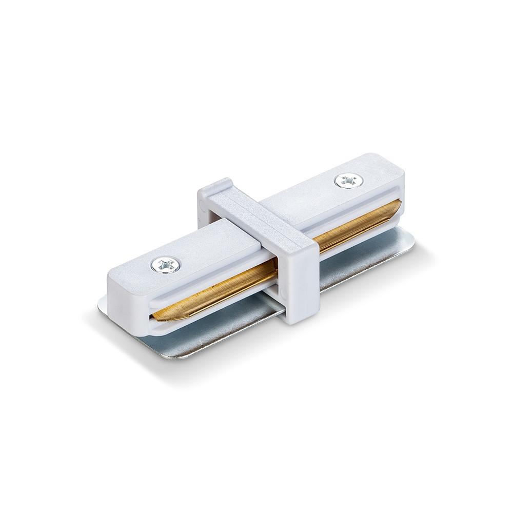 Соединитель для шинопроводов прямой белый VIDEX