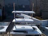 Полку 2 х ур. 2000х300х360 з 201 нержавіючої сталі, фото 6