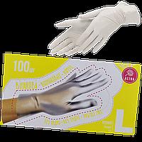 """Виниловые перчатки неопудренные,размер L """"АSTRA"""" уп/100шт"""