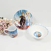 Керамический набор посуды Холодное Сердце для девочек