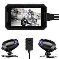 Мото видеорегистратор EGO X1 , с двумя камерами, 3,0 дюйма 1080P,, фото 1