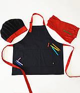Комплект детский Latte Kids 5-7 лет | Фартук + Колпак + Нарукавники, фото 9