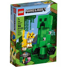 Конструктор LEGO Minecraft Большие фигурки Minecraft, Крипер и Оцелот 184 дет (21156)